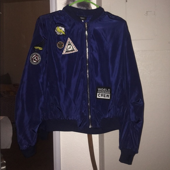 de329352f Dark Blue Bomber Jacket Women